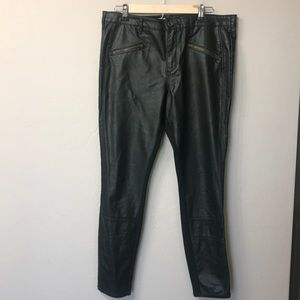 Pilcro and the letterpress green faux leather pant